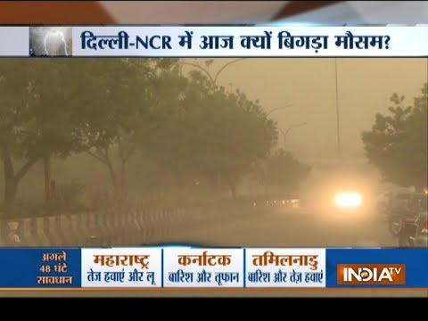 Violent dust storm, rain hit Delhi-NCR, trees uprooted