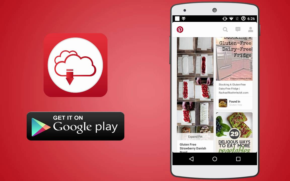 How To Download Image From Pinterest Via Android Applications Youtube
