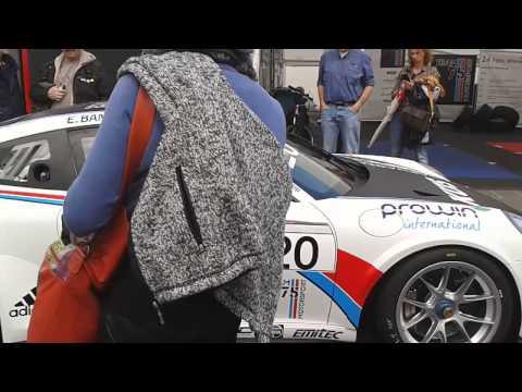 Porsche 991 gt3 cup Earl Bamber engine start