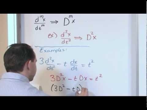 The Linear Differential Operator Differential Equations Youtube