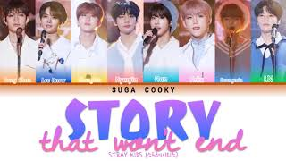 STRAY KIDS 스트레이 키즈 - Story That Won't End 끝나지 않을 이야기 Lyrics (Color Coded Lyrics Han/Rom/Eng)