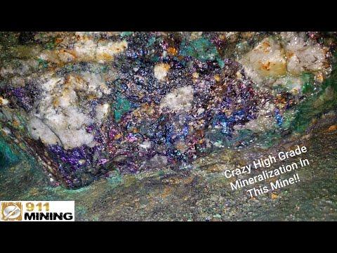 Massive Mineralized Quartz Vein In A Mine!