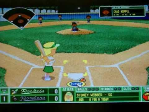 backyard baseball season game 1 youtube