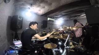 Yasuhiro Mizuno DrumCam - SABER TIGER - The Hammer- Studio Rehearsa...