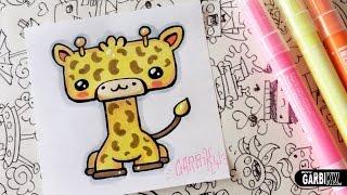 How To Draw Kawaii Giraffe by Garbi KW