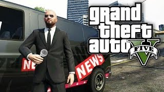 gta 5 funny moments pedestrian trapping weazel news microwave explosion gta v gameplay