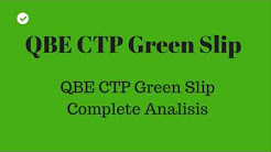QBE GREEN SLIP and other green Slips in NSW