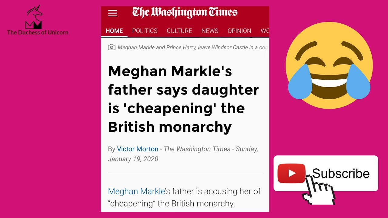 Thomas Markle says Meghan Cheapening The Royal Family