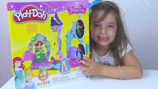 PLAY DOH PALÁCIO REAL - Massinha da Ariel, Cinderela e Rapunzel - Unboxing e Review de brinquedos !