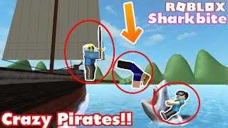 Hilarious Pirate Ship Crew in Roblox Sharkbite! Ft. MyUsernamesthis and DigDugPlays