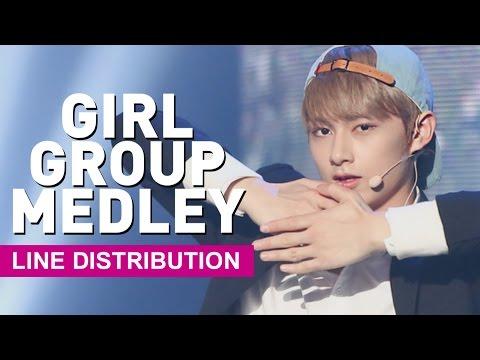 [Line Distribution] SEVENTEEN - Girl Group Medley (걸그룹 메들리)