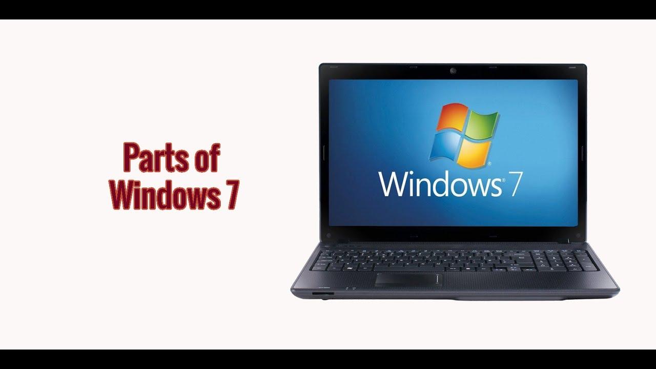 Parts of Windows 7 Desktop - YouTube