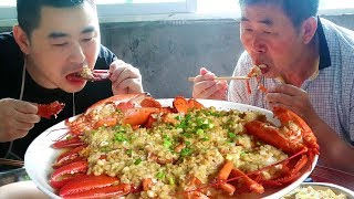 200 yuan to buy 2 super lobsters, filial parents, parents eat particularly enjoyable!