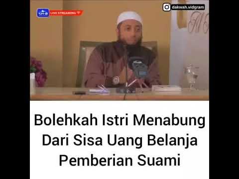 BOLEHKAH ISTRI MENABUNG SISA UANG BELANJA SUAMI Oleh Ustad Dr. Khalid Basalamah