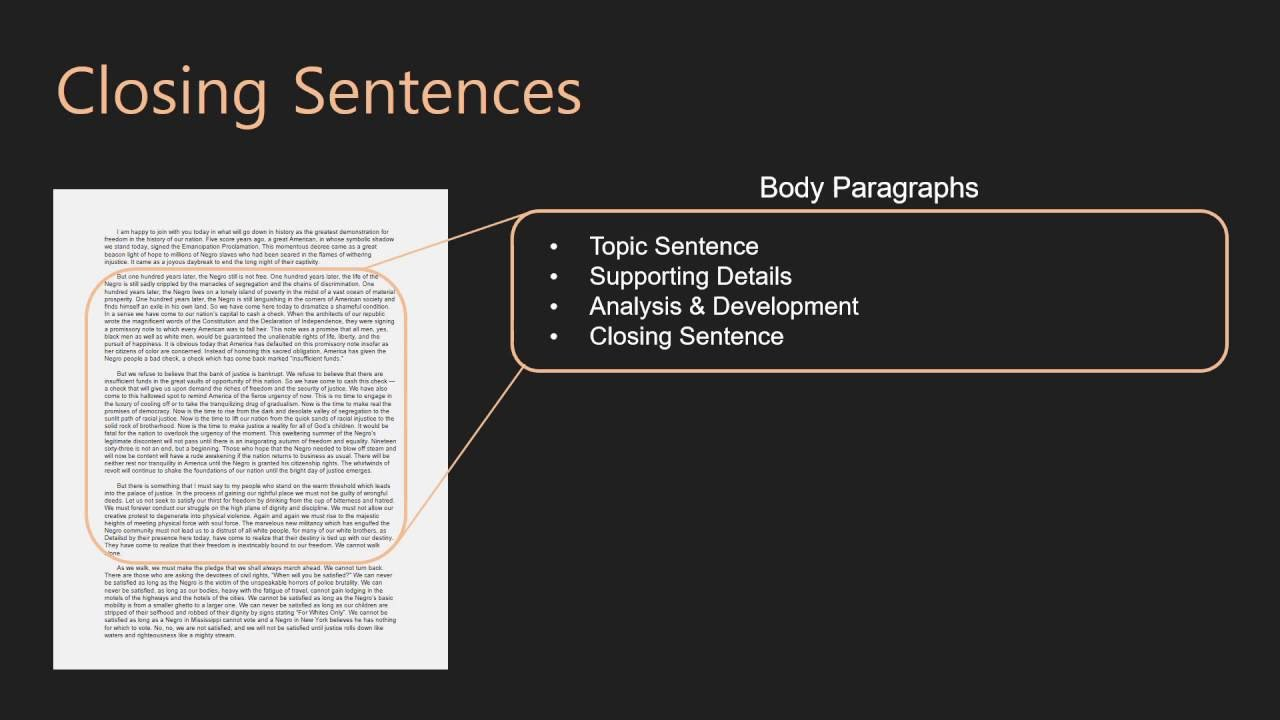 essay writing body paragraphs closing sentences  essay writing body paragraphs 10 closing sentences