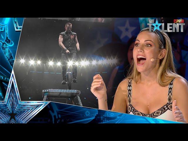 Este concursante, a punto de caerse en su PELIGROSO número  Audiciones 6   Got Talent España 2021