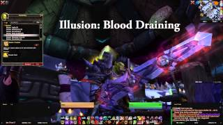 WoW WoD - Illusion: BLOOD DRAINING - Enchanters Study - Garrison - Warlords of Draenor
