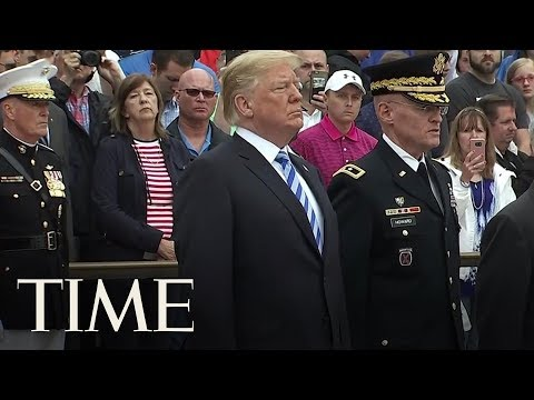 President Trump Lays Wreath At Tomb Of The Unknown Soldier | TIME