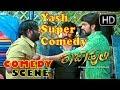 Kannada Comedy Scene - Yash Super Annthamma Comedy  Raja Huli Movie