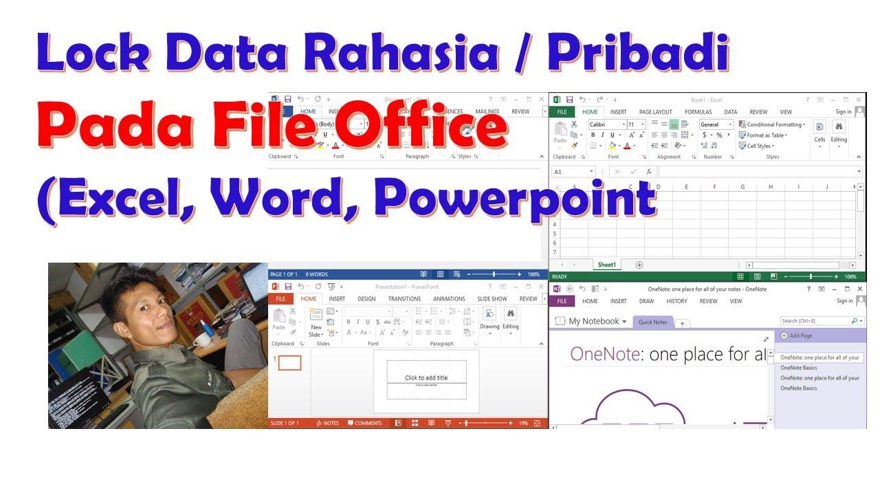 Cara Mengunci File Excel dengan pasword - YouTube