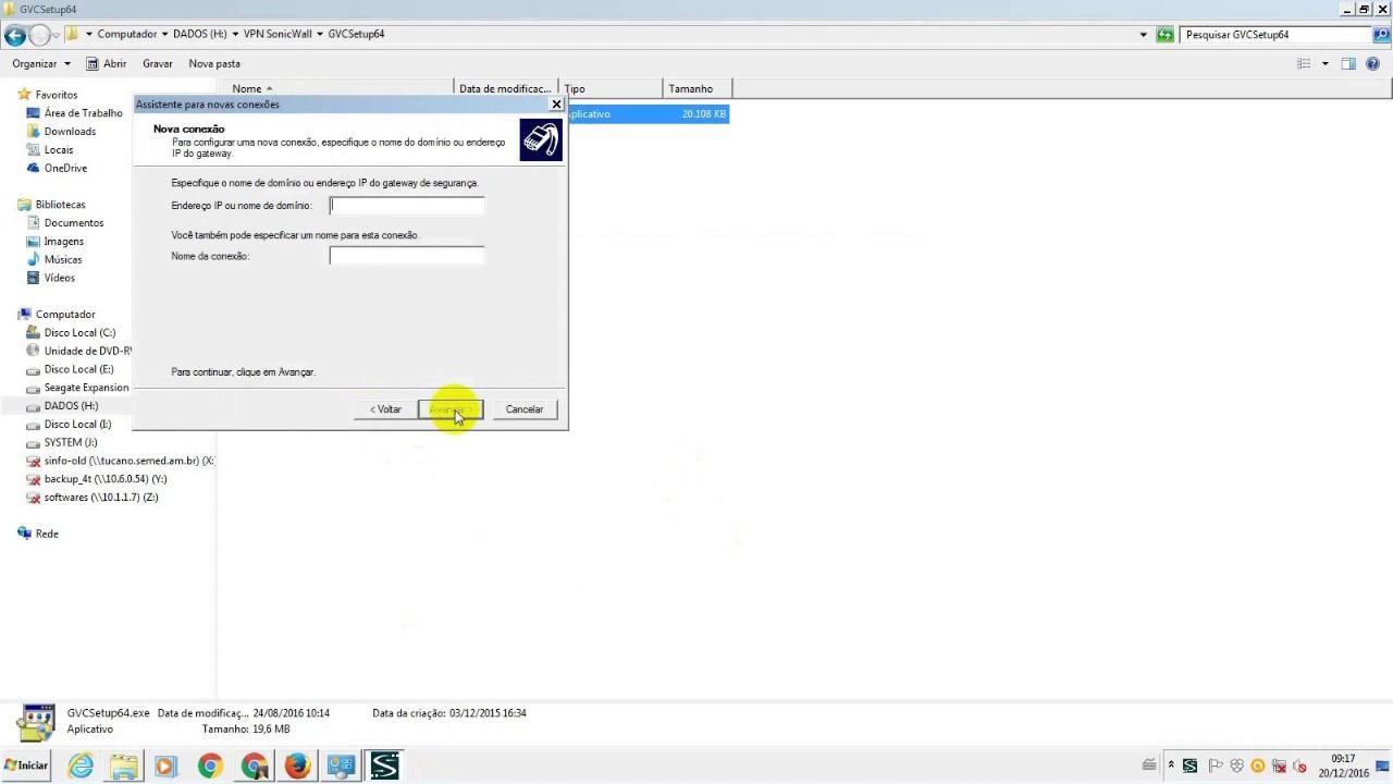 Instalar e Configurar o Sonicwall Global VPN Client para acesso ao Sigeam