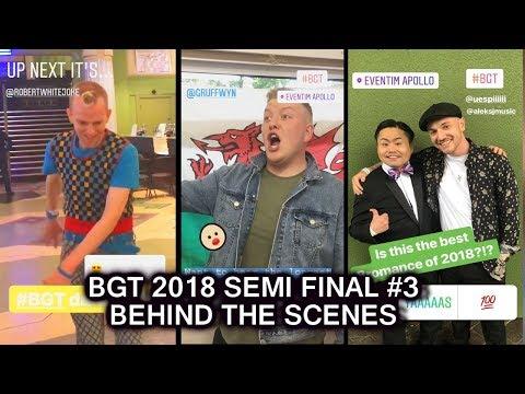 Gruffydd Wyn Roberts HOLDS LONGEST NOTE BGT 2018 Semi Final 3 Behind the Scene Britain's Got Talent
