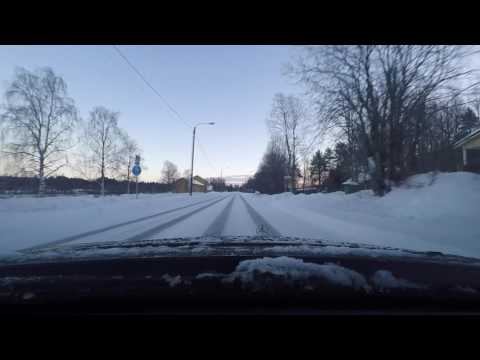 Driving in Finland, Rovaniemi  January 2017