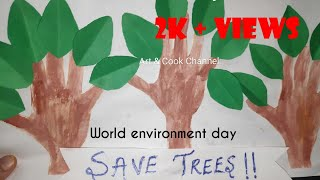World Environment day 2020 | theme and slogan | Drawing for kids | Environment day| Poster