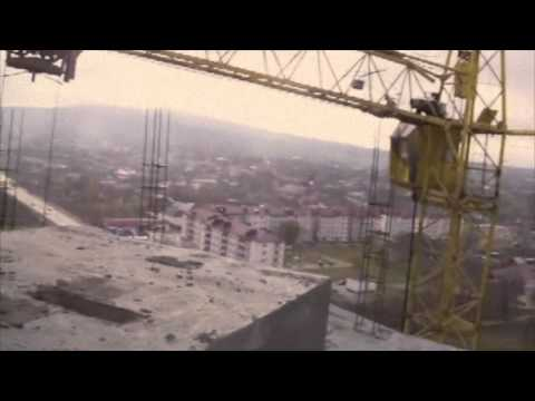 "Chrystal Callahan - Behind the scenes - Top of building ""Grozny"""