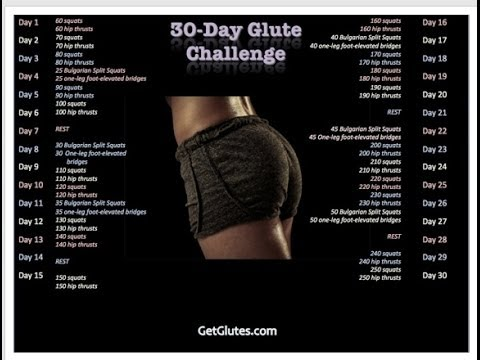 30Day Glute Challenge - Day 1 - YouTube