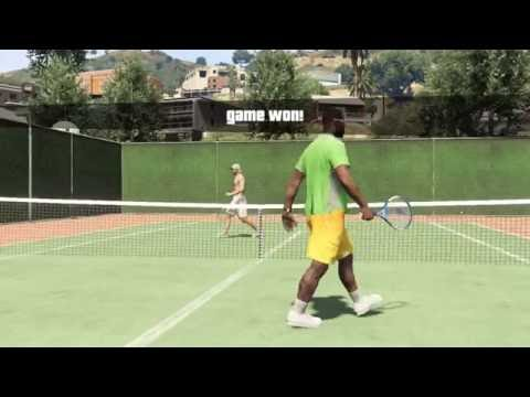 The KING playing a friendly game of tennis on GTA 5 online
