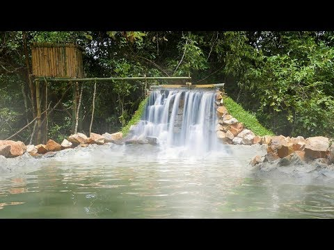 Primitive Technology: Build Waterfall Underground Swimming Pool