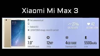 Xiaomi Mi Max 3 specifications review | Xiaomi tablet | Xiaomi phablet