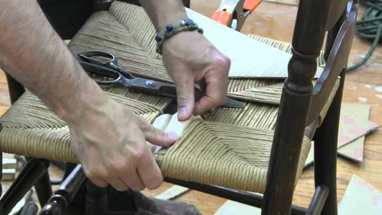 Fiber Rush Chair Weaving pt2  YouTube