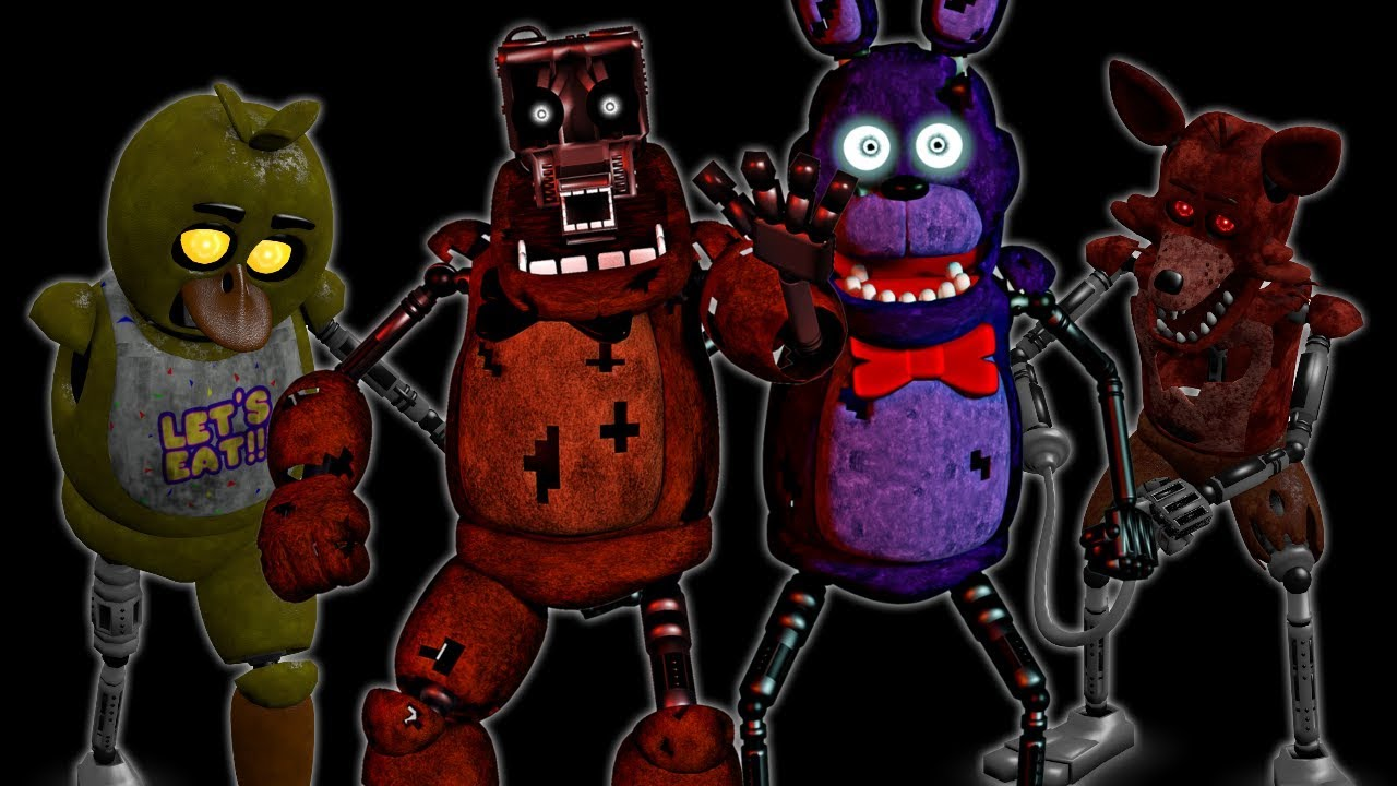 Five Nights Scrapped Animatronics Sing The FNAF Song - Video