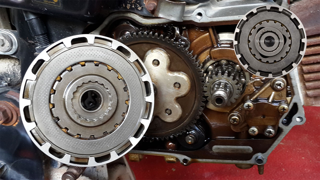 How to change clutch plates motorcycle 70cc OR How to ...