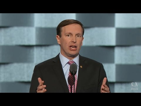 Sen. Chris Murphy of Connecticut speaks at the Democratic National Convention