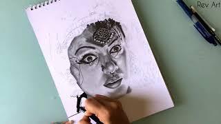 Nagavalli🔥 Sketch ✏️ | Shobhana |Manichitrathazhu