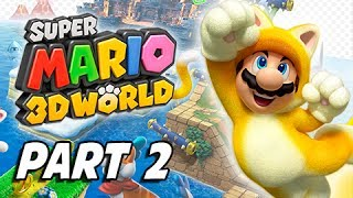Super Mario 3D World Walkthrough Part 2 - Character Switch (100% Green Stars & Stamps Gameplay)