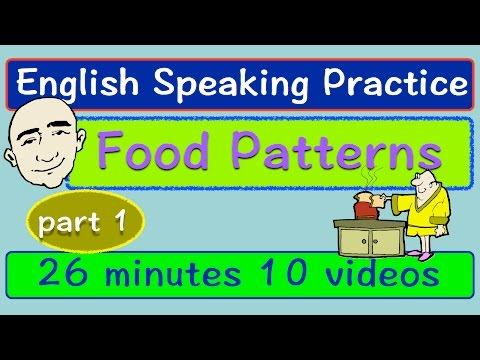 Food Vocabulary And Conversations | Part 1 | Long Video | English Speaking Practice | ESL | EFL