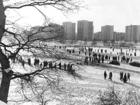 Vinter i Solna 1940-1960