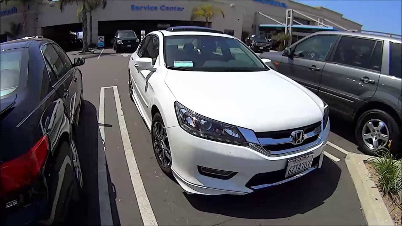 Honda Accord Ex-L >> 2013 Honda accord EX-L V6 accessories Orchid White pearl - YouTube