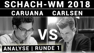 Fabiano Caruana vs Magnus Carlsen | Schach-WM 2018 Partie 1 | Schach-Analyse