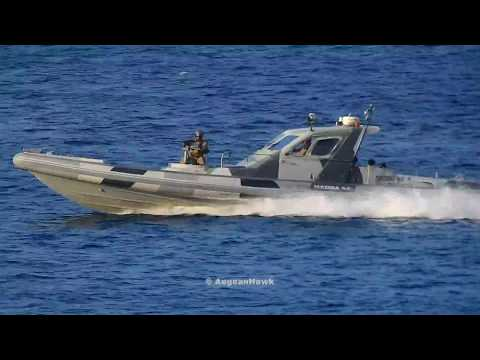 Hellenic Navy Special Forces Hellraiser 44 RIBs in military exercise Parmenion 2018.