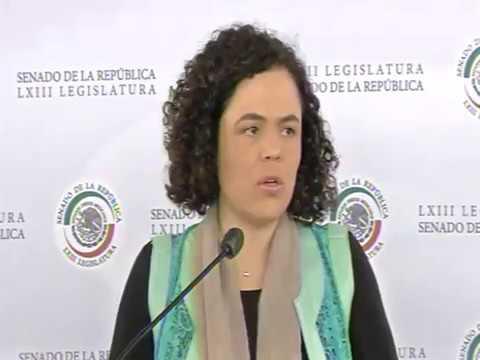 Conferencia de prensa de la senador Gómez del Campo sobre el Mercosur