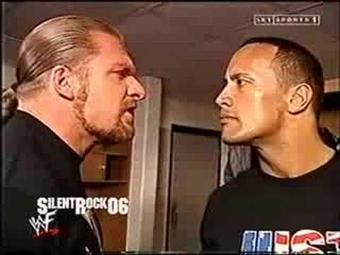 The Rock And Triple H Backstage Before The Royal Rumble 2002