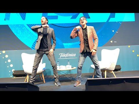 David Broncano y Berto Romero en Mobile World Congress 2019 Telefonica - MWC 2019
