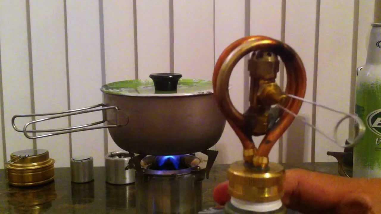 Copper Coil Alcohol Stove Youtube