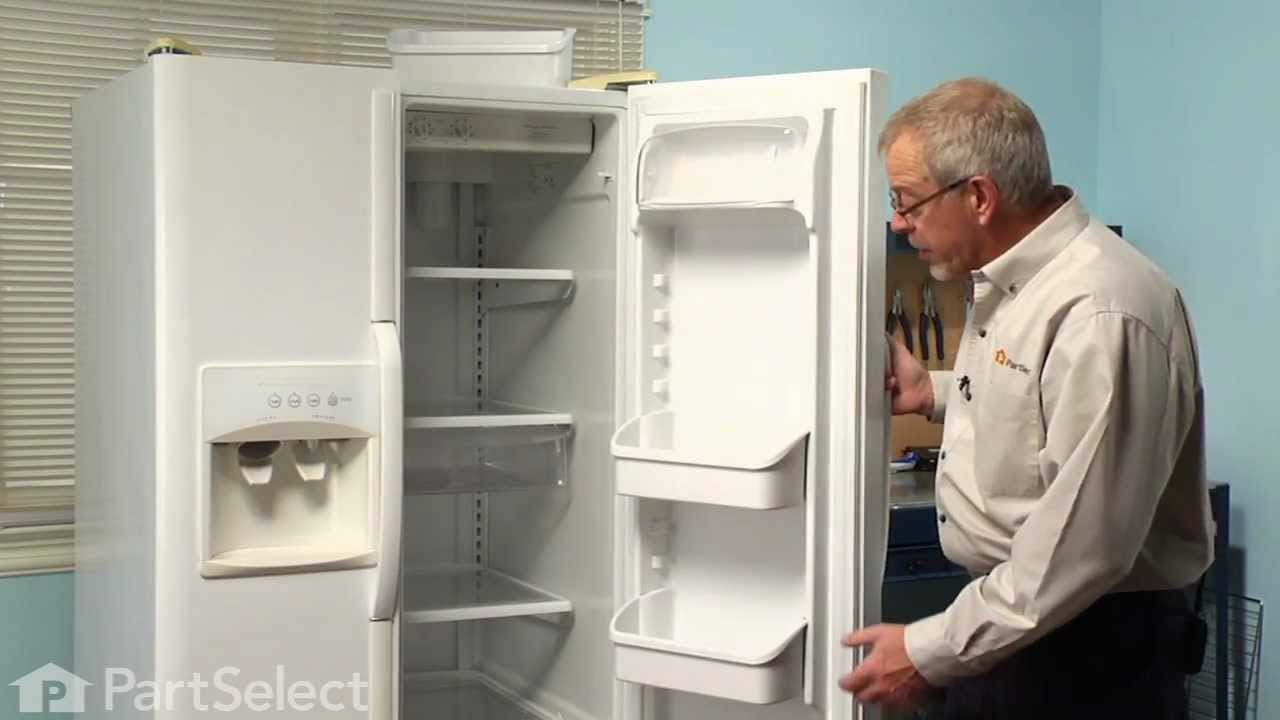 Refrigerator Repair  Replacing The Door Shelf Bin (Frigidaire Part #  240324501)   YouTube