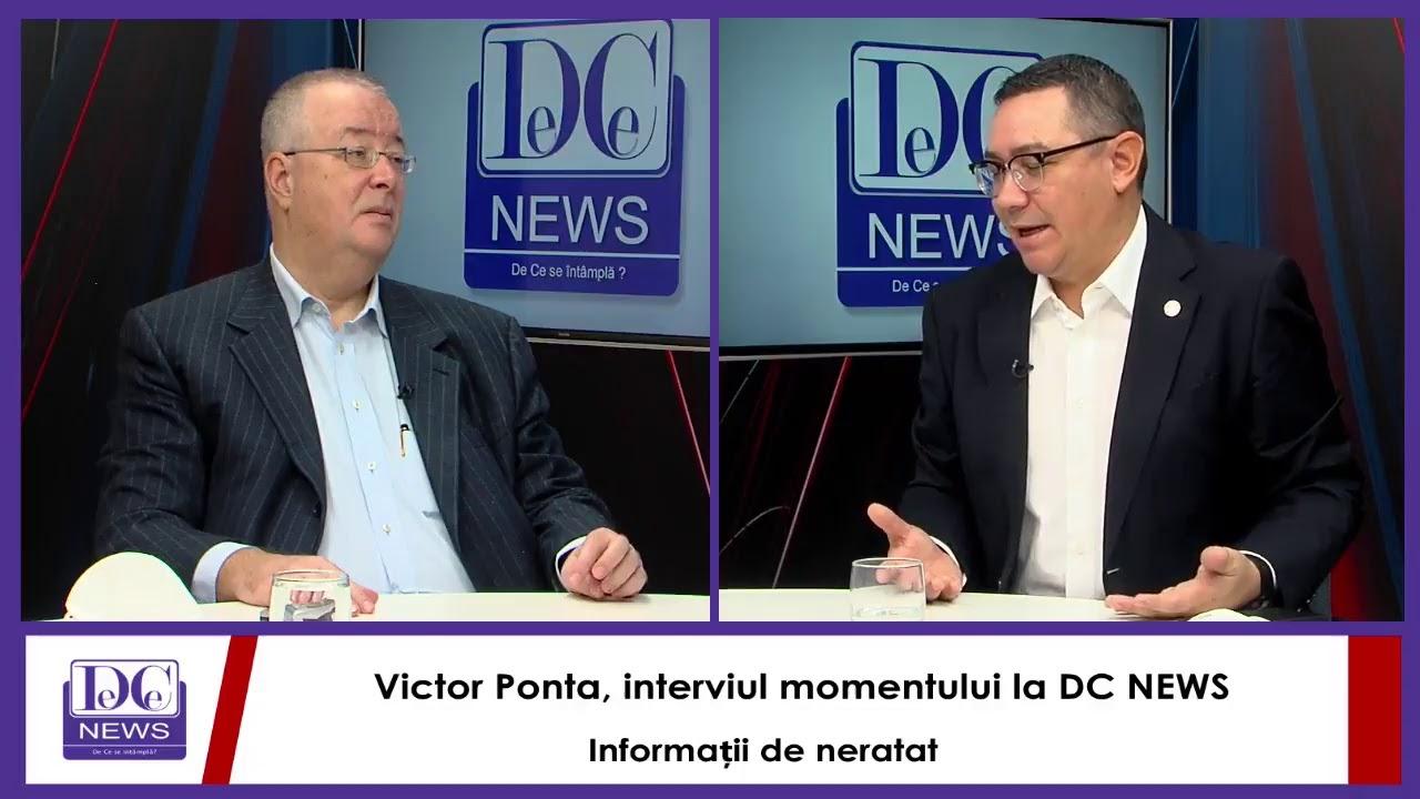 Victor Ponta, interviul momentului la DC NEWS. Informații de neratat